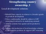 strengthening country ownership 1