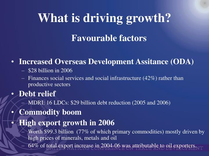 What is driving growth?