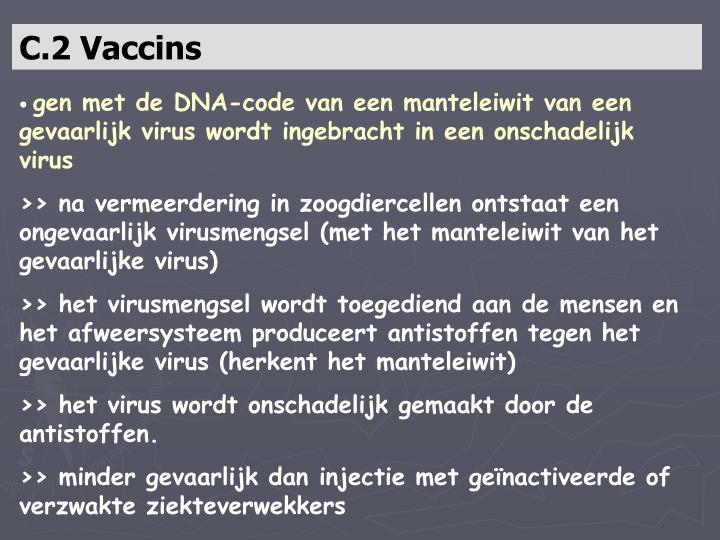 C.2 Vaccins