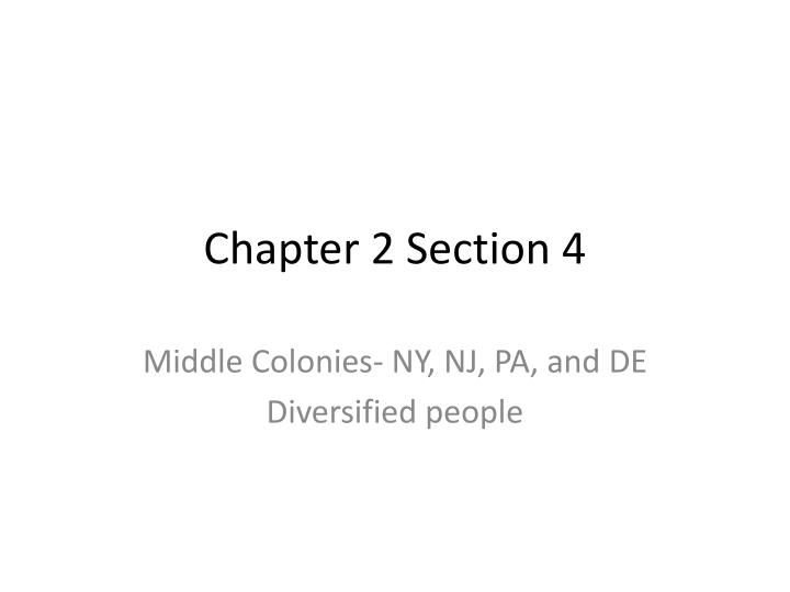 Chapter 2 Section 4