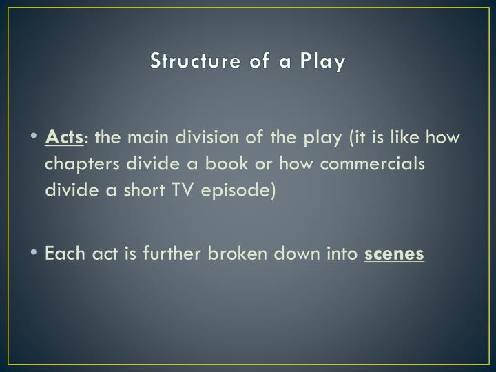 Structure of a Play