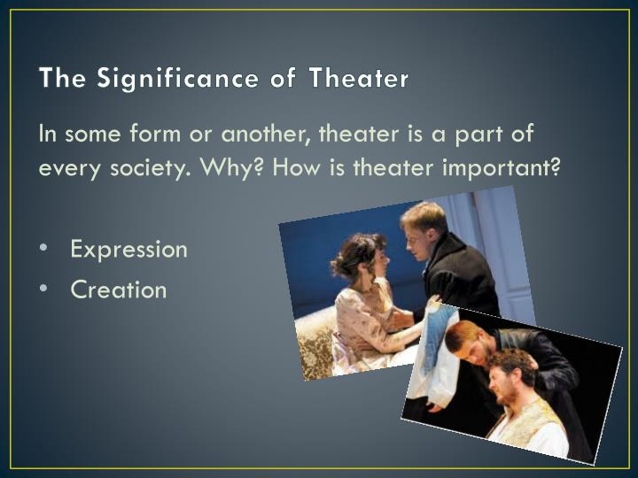 The Significance of Theater