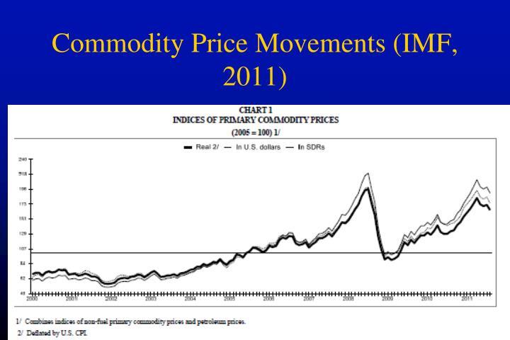 Commodity Price Movements (IMF, 2011)