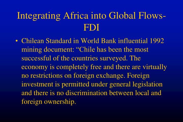 Integrating Africa into Global Flows-FDI