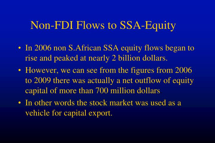 Non-FDI Flows to SSA-Equity