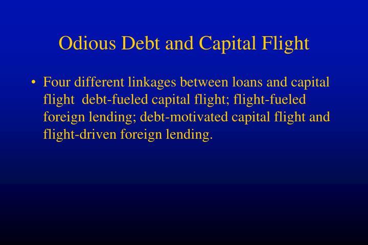 Odious Debt and Capital Flight