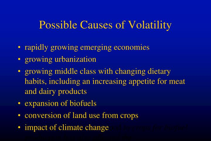 Possible Causes of Volatility
