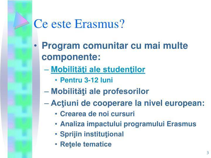 Ce este Erasmus
