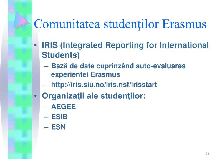 Comunitatea studenţilor Erasmus