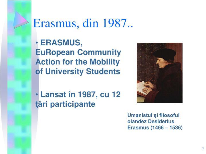Erasmus, din 1987