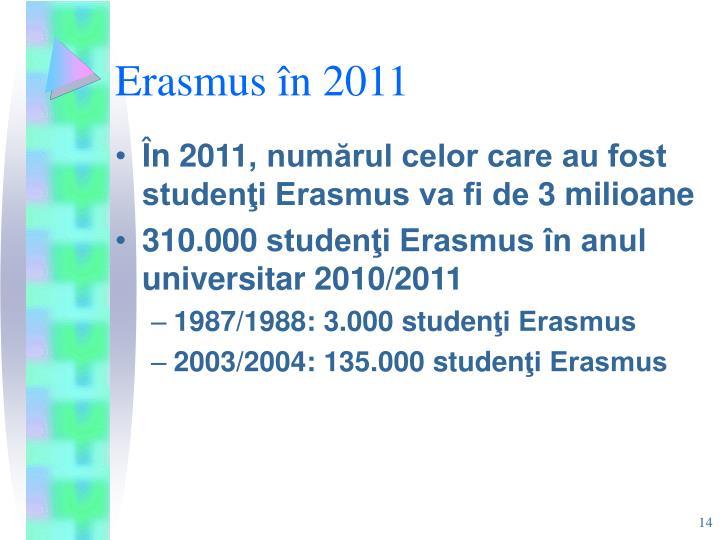 Erasmus în 2011