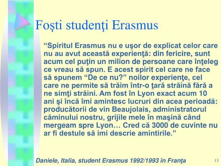Foşti studenţi
