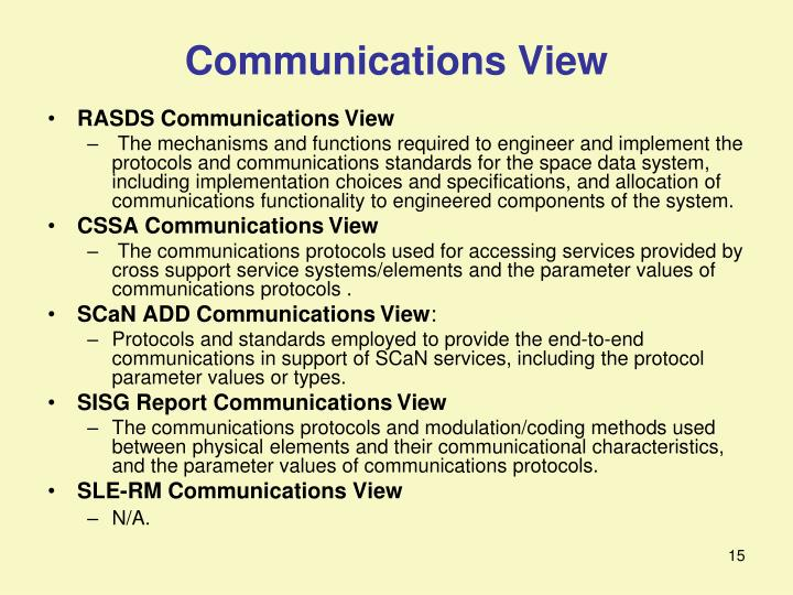 Communications View