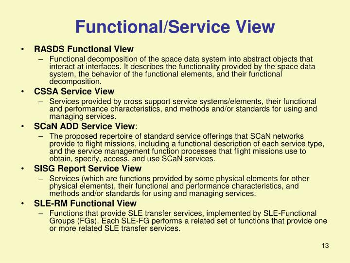 Functional/Service View