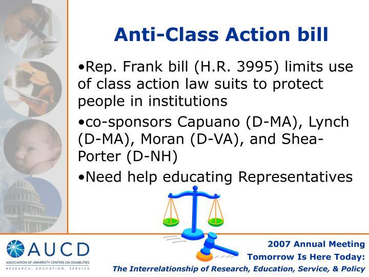 Anti-Class Action bill