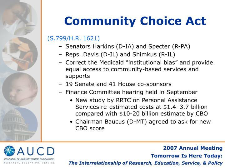 Community Choice Act