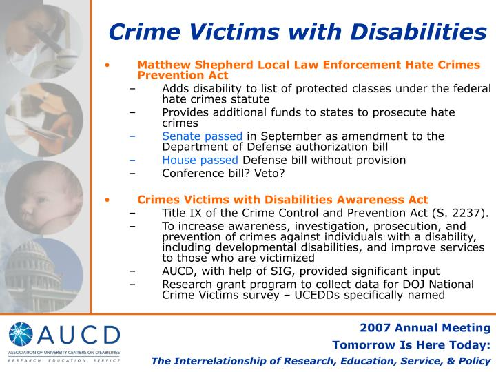 Crime Victims with Disabilities