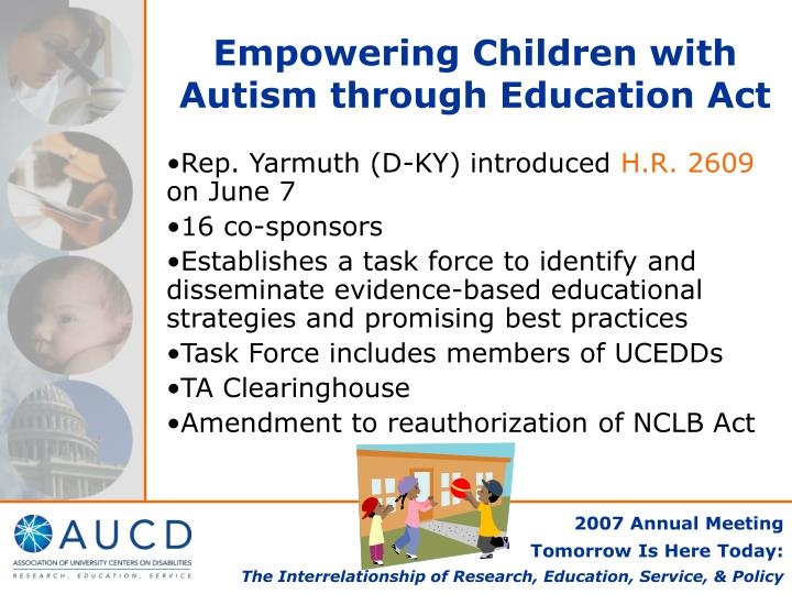Empowering Children with Autism through Education Act