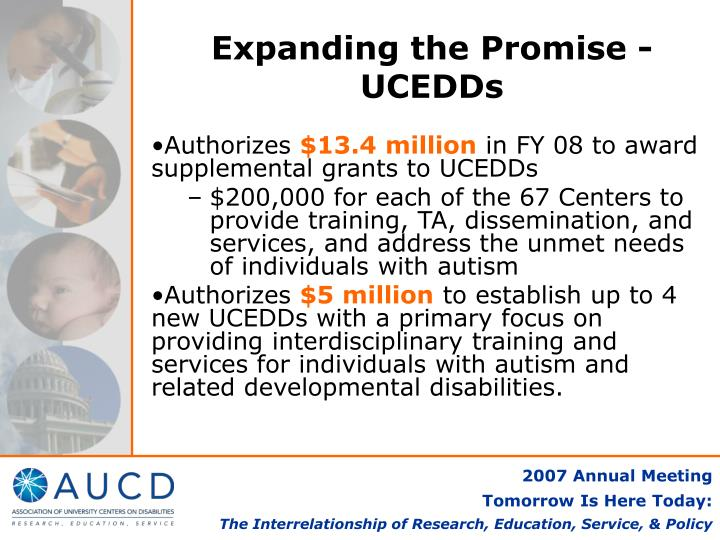 Expanding the Promise - UCEDDs