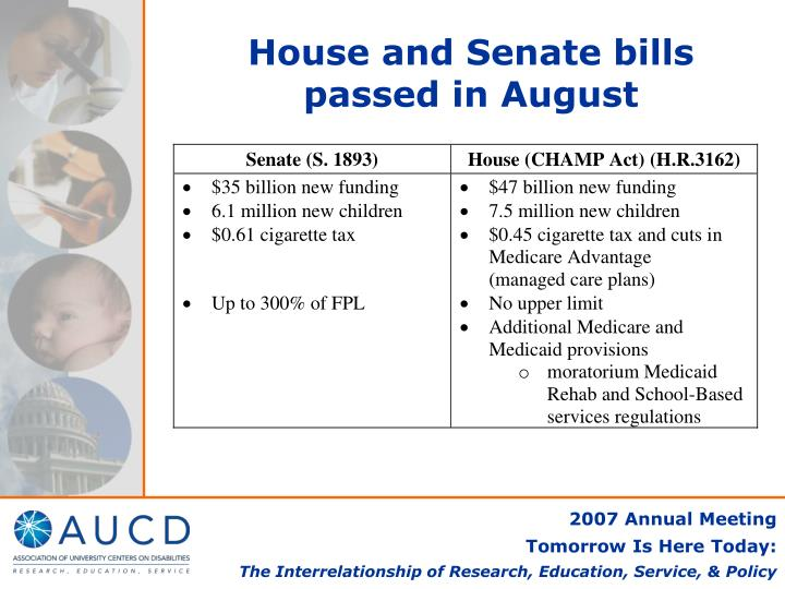House and Senate bills