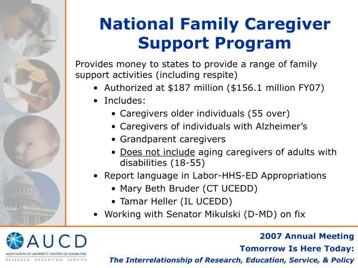 National Family Caregiver Support Program