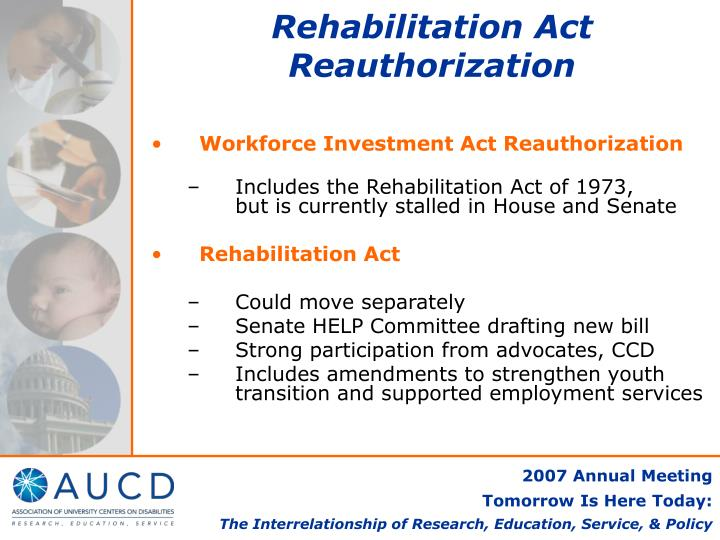 Rehabilitation Act Reauthorization