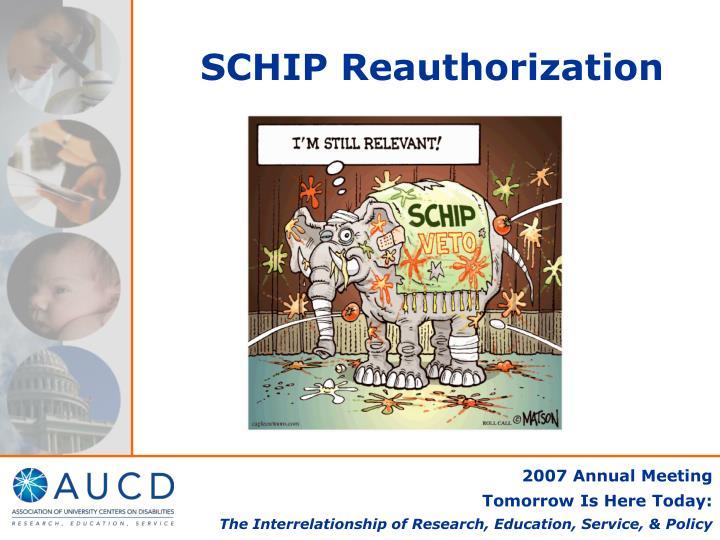 SCHIP Reauthorization