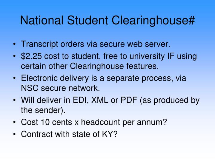 National Student Clearinghouse#
