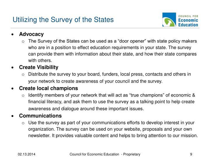 Utilizing the Survey of the States