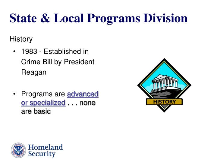 State & Local Programs Division