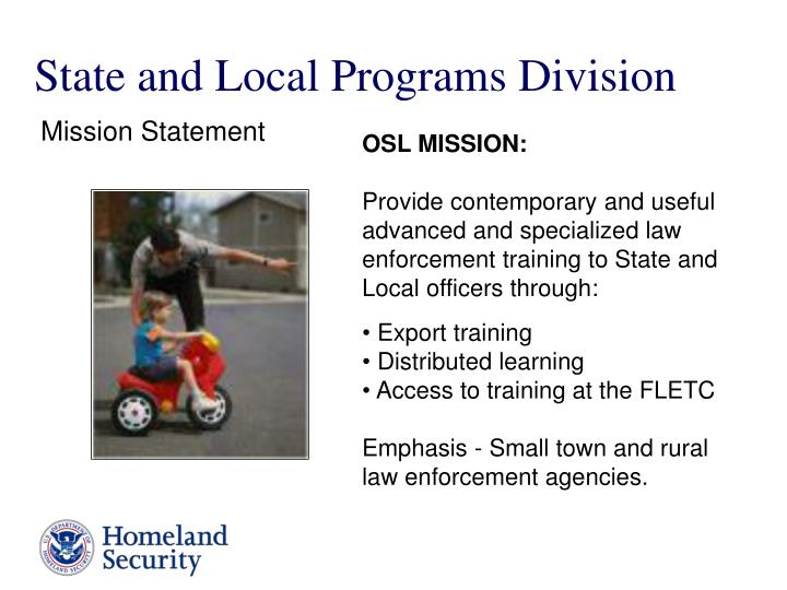 State and Local Programs Division