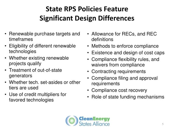 State RPS Policies Feature