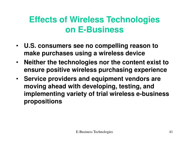 Effects of Wireless Technologies