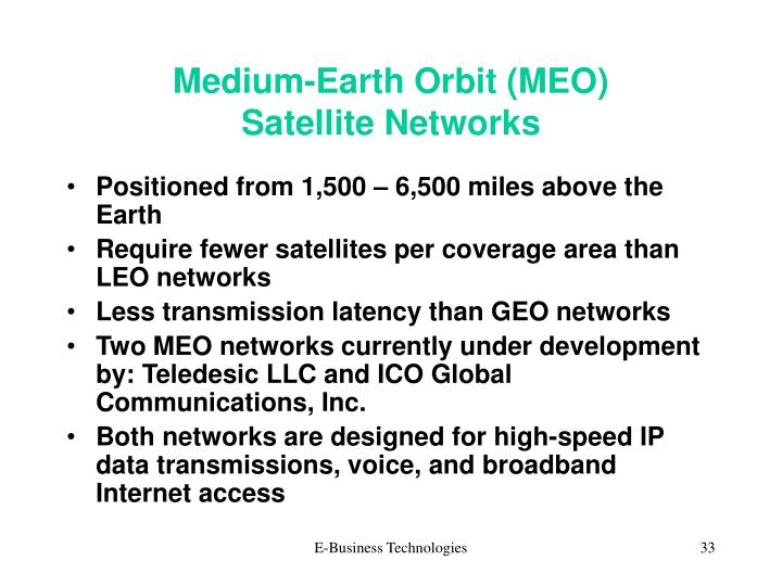 Medium-Earth Orbit (MEO)