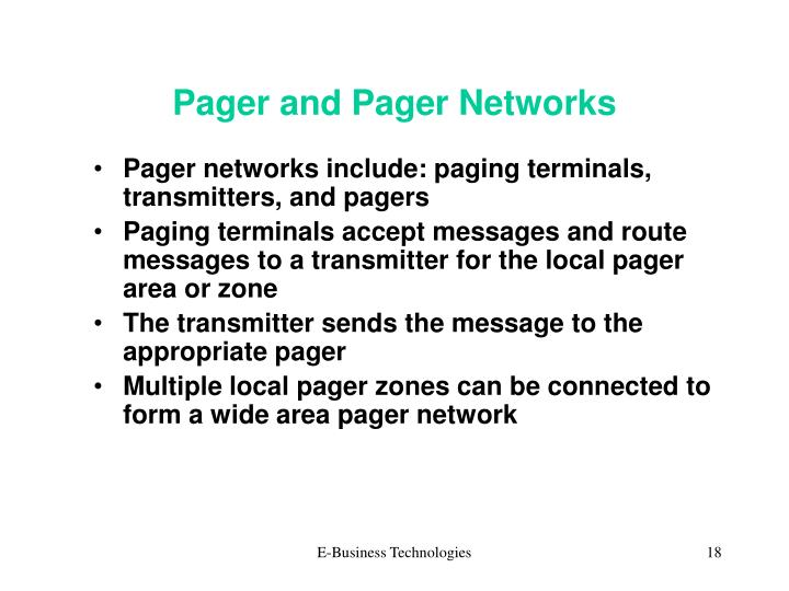Pager and Pager Networks