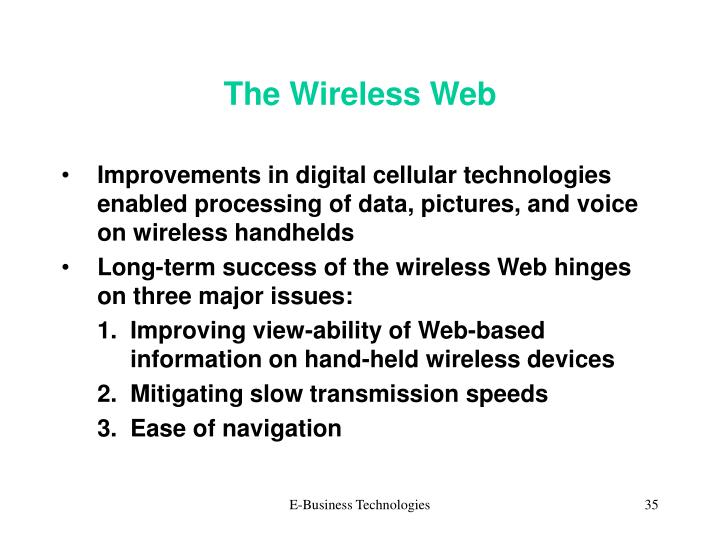 The Wireless Web