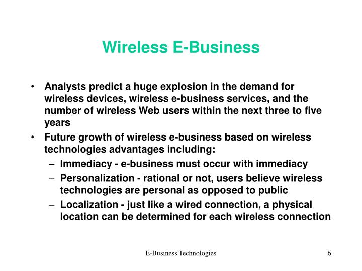 Wireless E-Business