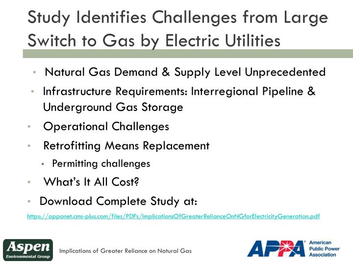 Study Identifies Challenges from Large Switch to Gas by