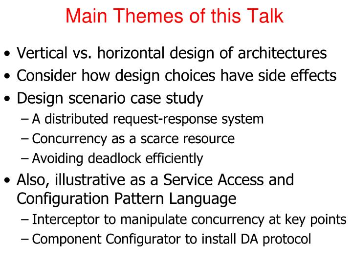 Main Themes of this Talk