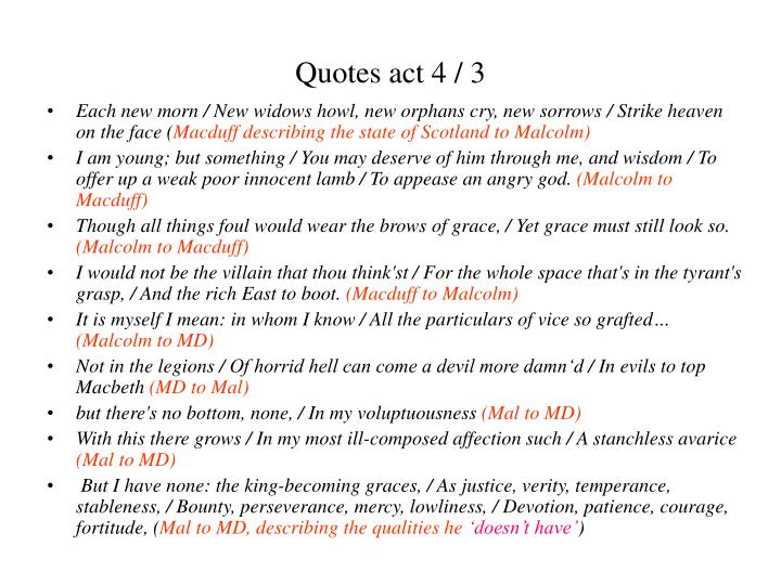 Quotes act 4 / 3