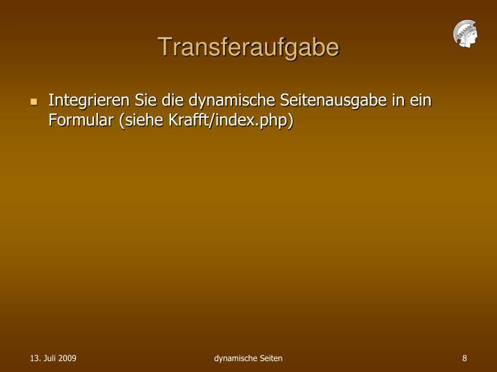 Transferaufgabe