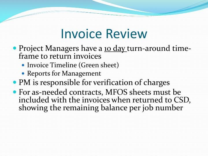 Invoice Review