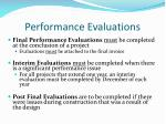 performance evaluations1