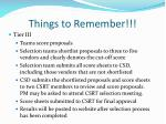things to remember1