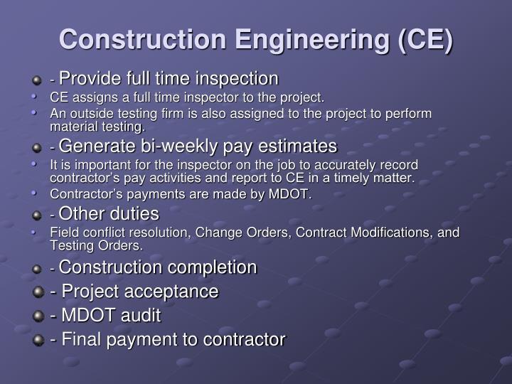 Construction Engineering (CE)