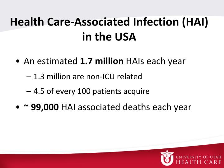 Health care associated infection hai in the usa