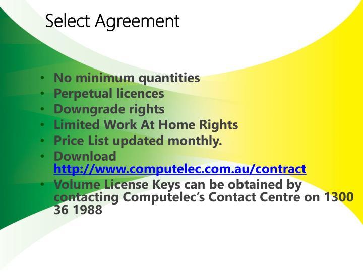 Select Agreement