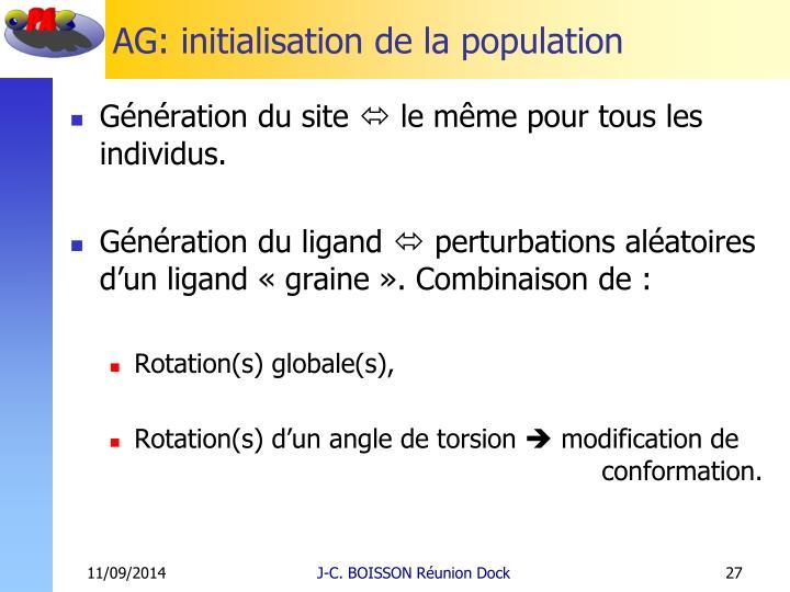 AG: initialisation de la population