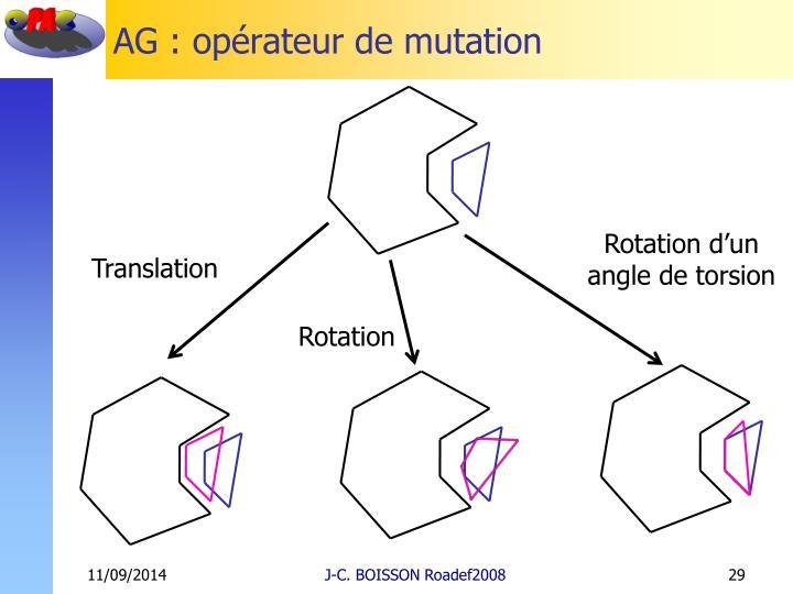 AG : opérateur de mutation
