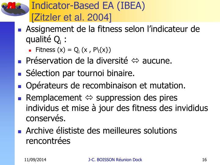 Indicator-Based EA (IBEA)